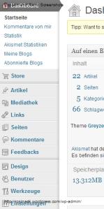 Wordpress, Blog