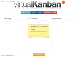 Kanban, Prozessmanagement, Virtuell, Team, Online