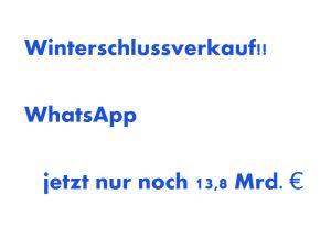 WhatsApp, Facebook, Verkauf, Milliarden, Dollar, Euro