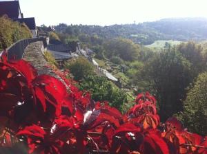 Blick von Schloss Langenburg über das Jagsttal (Foto Ulrike Rosina)
